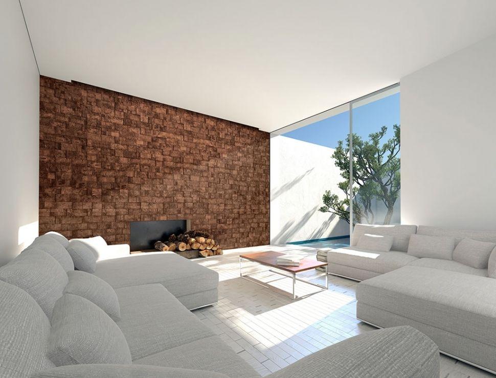 Silvas revestimentos de parede em corti a muratto for Corcho para insonorizar paredes
